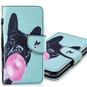 voordelige Galaxy S7 Hoesjes / covers-hoesje Voor Samsung Galaxy S9 / S9 Plus / S8 Plus Portemonnee / Kaarthouder / met standaard Volledig hoesje Hond Hard PU-nahka