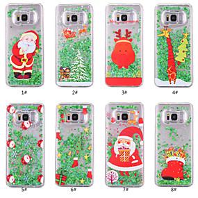 voordelige Galaxy S6 Edge Plus Hoesjes / covers-hoesje Voor Samsung Galaxy S8 Plus / S8 / S7 edge Stromende vloeistof / Transparant / Patroon Achterkant Kerstmis Hard PC