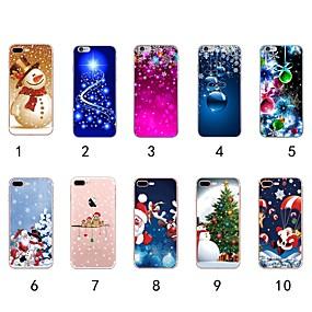 voordelige iPhone 11 hoesjes-hoesje Voor Apple iPhone XS / iPhone XR / iPhone XS Max Ultradun / Transparant / Patroon Achterkant Kerstmis Zacht TPU