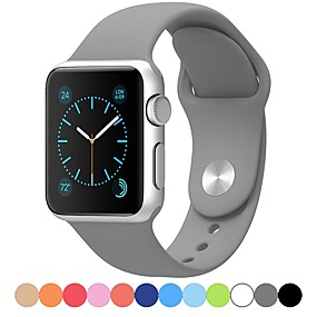 cheap Shop by Phone Model-Watch Band for Apple Watch Series 5/4/3/2/1 Apple Sport Band Silicone Wrist Strap