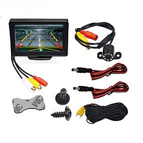 ieftine Electronice Mașină-BYNCG WG4.3T-4LED 4.3 inch TFT-LCD 480TVL 480p 1/4 inch culoare CMOS Cablu 120 Grade 1 pcs 120 ° 4.3 inch Cameră vedere retrovizoare / Mașină de mers înapoi / Setul de vedere al mașinii din spate
