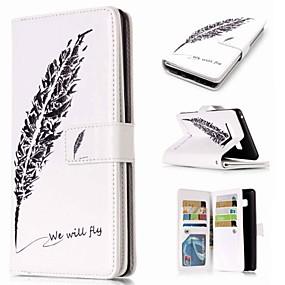 Недорогие Чехлы и кейсы для Galaxy Note 8-Кейс для Назначение SSamsung Galaxy Note 9 / Note 8 / Note 5 Кошелек / Бумажник для карт / со стендом Чехол Перья Твердый Кожа PU