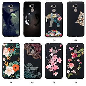 Недорогие Чехлы и кейсы для Huawei Honor-Кейс для Назначение Huawei Huawei Honor 10 / Huawei Honor 9 Lite / Honor 7A С узором Кейс на заднюю панель Животное / Цветы Мягкий ТПУ