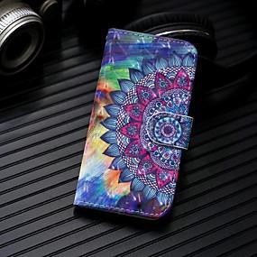 voordelige Galaxy J3 Hoesjes / covers-hoesje Voor Samsung Galaxy J7 (2017) / J6 (2018) / J5 (2017) Portemonnee / Kaarthouder / met standaard Volledig hoesje Mandala Hard PU-nahka