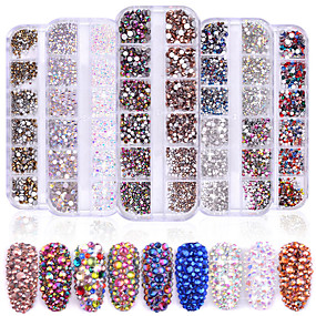cheap Nail Care-1440 pcs Classic / High Transparency Rhinestone Nail Jewelry Rhinestones For Finger Nail Wedding Ball nail art Manicure Pedicure Party / Evening / Daily / Engagement Party Artistic / Aristocrat Lolita