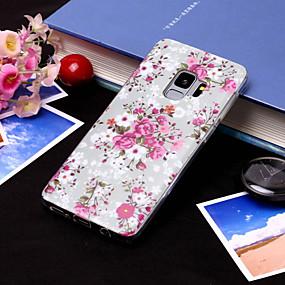 voordelige Galaxy S7 Edge Hoesjes / covers-hoesje Voor Samsung Galaxy S9 / S9 Plus / S8 Plus IMD / Patroon Achterkant Bloem Zacht TPU