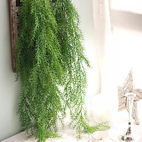 رخيصةأون أزهار اصطناعية-زهور اصطناعية 1 فرع معلقة على الحائط النمط الرعوي نباتات أزهار الحائط