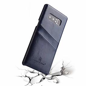 Недорогие Чехлы и кейсы для Galaxy Note 8-Кейс для Назначение SSamsung Galaxy Note 8 Бумажник для карт Кейс на заднюю панель Однотонный Твердый Настоящая кожа