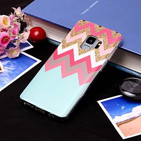 voordelige Galaxy S7 Edge Hoesjes / covers-hoesje Voor Samsung Galaxy S9 / S9 Plus / S8 Plus IMD / Patroon Achterkant Lijnen / golven Zacht TPU