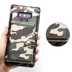 Недорогие Чехлы и кейсы для Galaxy Note 8-Кейс для Назначение SSamsung Galaxy Note 9 / Note 8 Бумажник для карт / Магнитный Кейс на заднюю панель Однотонный Твердый Кожа PU