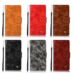 Недорогие Чехлы и кейсы для Huawei Mate-Кейс для Назначение Huawei Huawei P20 / Huawei P20 Pro / Huawei P20 lite Бумажник для карт / Флип / Матовое Чехол Однотонный Твердый Кожа PU / P10 Plus / P10 Lite / P10