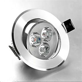 olcso Beépíthető-1db 3 W 250 lm 3 LED gyöngyök Süllyesztett kapcsolók LED mélysugárzók Meleg fehér Hideg fehér 85-265 V Kereskedelmi Otthon / iroda Hálószoba / RoHs / CE