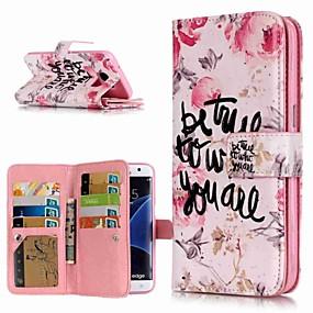 voordelige Galaxy S7 Hoesjes / covers-hoesje Voor Samsung Galaxy S9 / S9 Plus / S8 Plus Portemonnee / Kaarthouder / met standaard Volledig hoesje Woord / tekst Hard PU-nahka