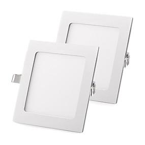 رخيصةأون مصابيح سقف-Zdm 2 قطع 18 واط شقة أدى ضوء لوحة ضوء lampultra رقيقة أدى راحة ضوء السقف الطبيعي الأبيض / الباردة الأبيض / الدافئة الأبيض ac85-265v