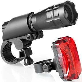 ieftine Lanterne-Lumini de Bicicletă Set de iluminat bicicletă reîncărcabilă Iluminat Bicicletă Față Lanternă Cree® Ciclism montan Bicicletă Ciclism Rezistent la apă Foarte luminos Siguranță Portabil 160 lm 18650 Alb