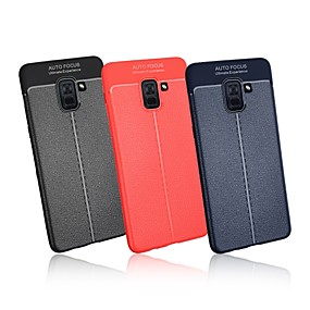 Недорогие Чехлы и кейсы для Galaxy A5(2016)-Кейс для Назначение SSamsung Galaxy A5(2018) / A6 (2018) / A6+ (2018) Ультратонкий Кейс на заднюю панель Однотонный Мягкий ТПУ