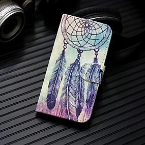 voordelige Galaxy J3 Hoesjes / covers-hoesje Voor Samsung Galaxy J7 (2017) / J6 (2018) / J5 (2017) Portemonnee / Kaarthouder / met standaard Volledig hoesje Dromenvanger Hard PU-nahka
