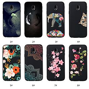 voordelige Galaxy J5(2017) Hoesjes / covers-hoesje Voor Samsung Galaxy J7 (2017) / J6 (2018) / J5 (2017) Patroon Achterkant dier / Bloem Zacht TPU