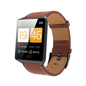 رخيصةأون الأساور الذكية-Indear CK12 رجالي سوار الذكية Android iOS بلوتوث رياضات ضد الماء رصد معدل ضربات القلب أصفر فاتح شاشة لمس عداد الخطى تذكرة بالاتصال متتبع النشاط متتبع النوم تذكير المستقرة / أجد هاتفي / ساعة منبهة