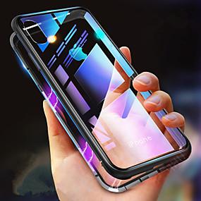 voordelige iPhone 11 Pro Max hoesjes-hoesje Voor Apple iPhone XS / iPhone XR / iPhone XS Max Schokbestendig / Transparant / Magnetisch Volledig hoesje Effen Hard Gehard glas