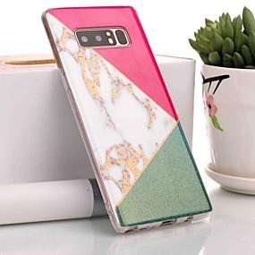 Недорогие Чехлы и кейсы для Galaxy Note 8-Кейс для Назначение SSamsung Galaxy Note 9 / Note 8 IMD / С узором Кейс на заднюю панель Мрамор Мягкий ТПУ