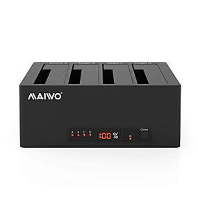 olcso Számítógépes periferiális egységek-MAIWO USB 3.0 nak nek SATA 3.0 Külső merevlemez-dokkoló állomás Emlékek elmentése / Plug and play / LED kijelzővel / Támogatás Offline másolás 40000 GB K3084A