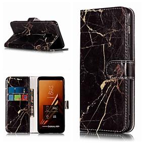 halpa Galaxy A5(2016) kotelot / kuoret-Etui Käyttötarkoitus Samsung Galaxy A3 (2017) / A5 (2017) / A8 2018 Lomapkko / Korttikotelo / Tuella Suojakuori Marble Kova PU-nahka