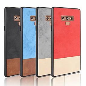 Недорогие Чехлы и кейсы для Galaxy Note 8-Кейс для Назначение SSamsung Galaxy Note 9 / Note 8 / Note 4 Матовое Кейс на заднюю панель Однотонный Мягкий Кожа PU
