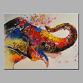 povoljno Bojano-Hang oslikana uljanim bojama Ručno oslikana - Sažetak Pop art Klasik Moderna Bez unutrašnje Frame / Valjani platno