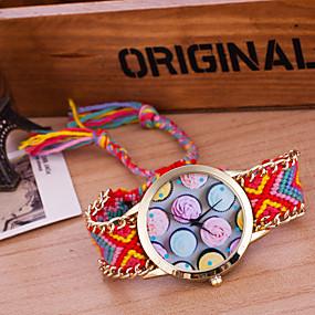 olcso Bohém karórák-Női Karóra Kvarc Wrap Műanyag Fehér / Kék / Orange Kreatív Alkalmi óra Analóg hölgyek Vintage Bohém - Zöld Kék Sötétvörös