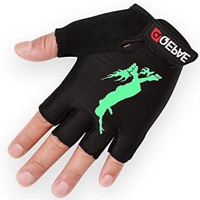 povoljno Motociklističke rukavice-Half-prst Uniseks Moto rukavice Spandex Lycra / Flanel / silika gel Prozračnost / Otporno na nošenje / Ne skliznuti