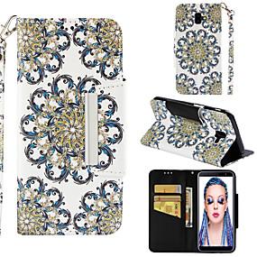 Недорогие Чехлы и кейсы для Galaxy J5(2017)-Кейс для Назначение SSamsung Galaxy J8 (2018) / J7 (2017) / J7 (2018) Кошелек / Бумажник для карт / со стендом Чехол Мандала Твердый Кожа PU