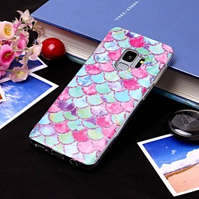 voordelige Galaxy S7 Hoesjes / covers-hoesje Voor Samsung Galaxy S9 / S9 Plus / S8 Plus IMD / Doorzichtig Achterkant Lijnen / golven Zacht TPU