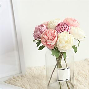 رخيصةأون أزهار اصطناعية-زهور اصطناعية 1 فرع كلاسيكي الزفاف Wedding Flowers Camellia أزهار الطاولة