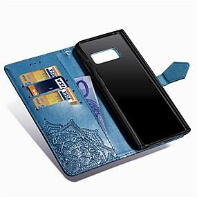 Недорогие Чехлы и кейсы для Galaxy Note 8-Кейс для Назначение SSamsung Galaxy Note 8 Кошелек / Бумажник для карт / со стендом Чехол Мандала Твердый Кожа PU
