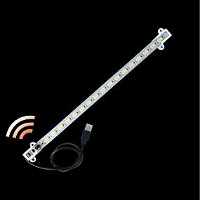 olcso Fénycsövek-zdm® 1pc 0,33 m vízálló gesztus érzékelő merev LED világos sávok 5050 smd hideg fehér / meleg fehér / test érzékelő / új design / usb powered dc5v