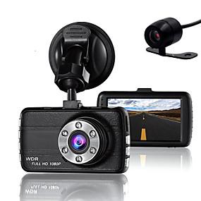 voordelige Auto-elektronica-dubbele lens dash cam camera dvr auto voor drivers full hd 1080 p recorder camera met nachtzicht g-sensor