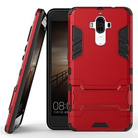 Недорогие Чехлы и кейсы для Huawei Mate-Кейс для Назначение Huawei Mate 9 Защита от удара / со стендом Кейс на заднюю панель Однотонный Твердый ПК