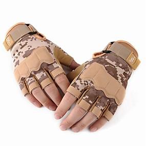 voordelige Motorhandschoenen-Half-vinger Heren Motorhandschoenen Leder Slijtvast / Beschermend / Antislip