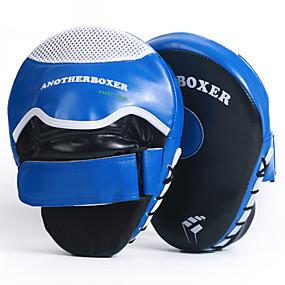 olcso Doboz-Ütőpajzs Kompatibilitás Muay Thai Boksz képzés Kickbox Tartós Pontkesztyű Állítható csuklópánt Légáteresztő Ütésálló Tompítja az ütéseket PU bőr 2 pcs Felnőttek - Medence Rubin ANOTHERBOXER