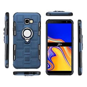 Недорогие Чехлы и кейсы для Galaxy J7(2017-Кейс для Назначение SSamsung Galaxy J7 (2017) / J6 (2018) / J6 Plus Защита от удара / Кольца-держатели Кейс на заднюю панель Однотонный Мягкий ПК