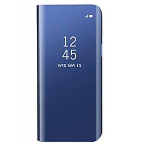 voordelige Galaxy S7 Edge Hoesjes / covers-hoesje Voor Samsung Galaxy S9 / S9 Plus / S8 Plus met standaard / Beplating / Spiegel Achterkant Effen Hard Acryl