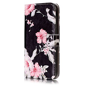 voordelige Galaxy J3(2017) Hoesjes / covers-hoesje Voor Samsung Galaxy J7 (2016) / J7 / J5 (2017) Portemonnee / Kaarthouder / met standaard Volledig hoesje Bloem Hard PU-nahka