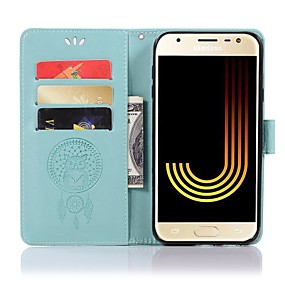 voordelige Galaxy J7 Hoesjes / covers-hoesje Voor Samsung Galaxy J8 (2018) / J7 / J6 (2018) Portemonnee / Kaarthouder / met standaard Volledig hoesje Uil Hard PU-nahka
