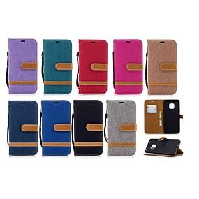 Недорогие Чехлы и кейсы для Huawei Mate-Кейс для Назначение Huawei Mate 10 / Mate 10 lite / Huawei Mate 20 lite Кошелек / Бумажник для карт / со стендом Чехол Плитка Твердый текстильный