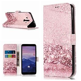 Недорогие Чехлы и кейсы для Huawei Mate-Кейс для Назначение Huawei Mate 10 / Mate 10 pro / Mate 10 lite Кошелек / Бумажник для карт / со стендом Чехол Мрамор Твердый Кожа PU