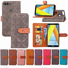 voordelige Huawei Honor hoesjes / covers-hoesje Voor Huawei Honor 7A / Honor 7C(Enjoy 8) / Honor 5A Portemonnee / Kaarthouder / met standaard Volledig hoesje Tegel Hard PU-nahka