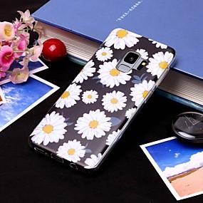 voordelige Galaxy S7 Edge Hoesjes / covers-hoesje Voor Samsung Galaxy S9 / S9 Plus / S8 Plus IMD / Doorzichtig Achterkant Bloem Zacht TPU