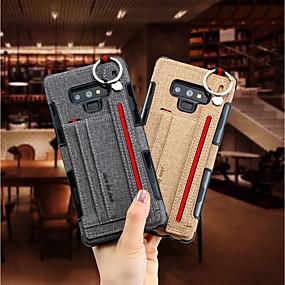 Недорогие Чехлы и кейсы для Galaxy Note 8-Кейс для Назначение SSamsung Galaxy Note 9 / Note 8 Бумажник для карт Кейс на заднюю панель Однотонный Твердый текстильный