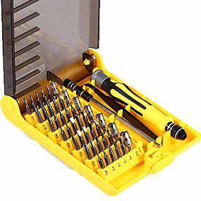 povoljno Odvijači i setovi odvijača-6089a 45 u 1 izmjenjivom skupu alata za odvijače profesionalnih alata za popravke telefon / pc / aparat s povišenim tvrdim produžnim vratilom